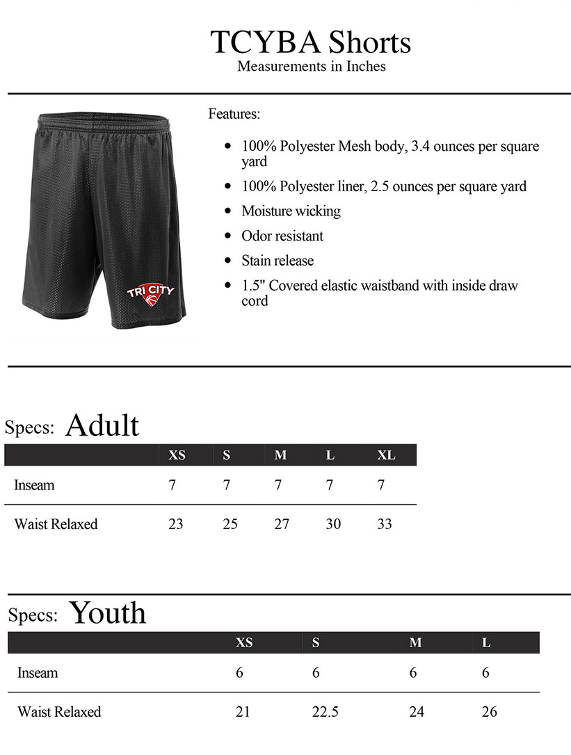 Shorts Sizing